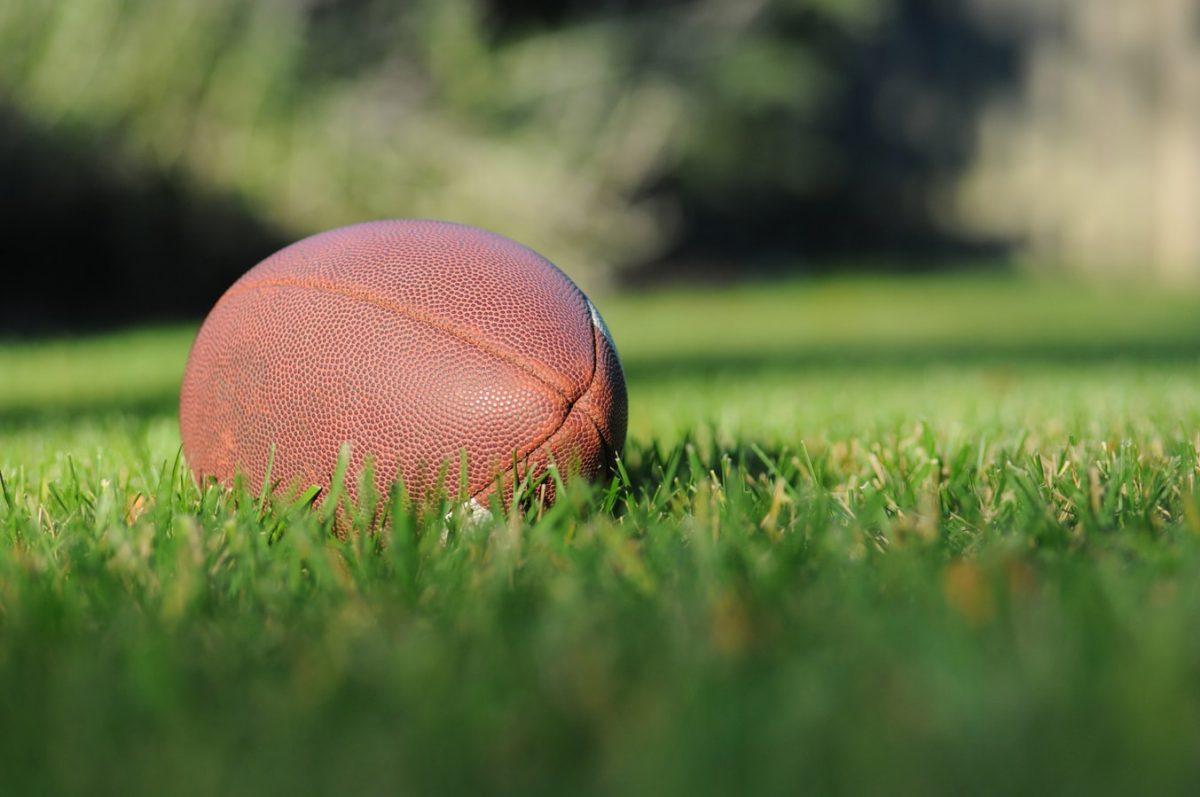 Football in yard